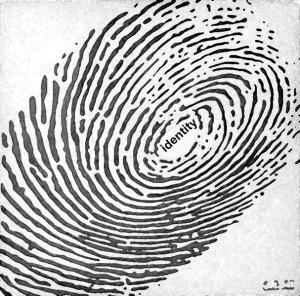 identiteit vingerafdruk